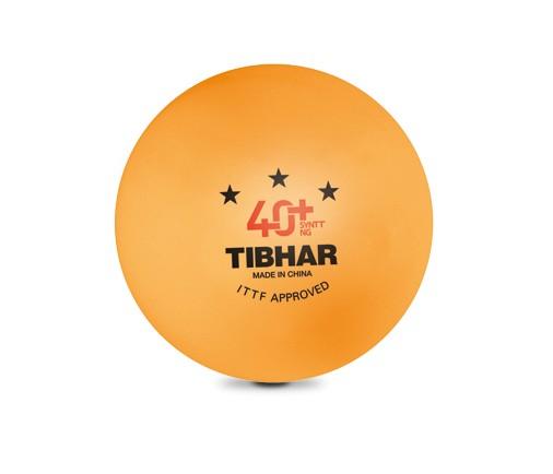 Tibhar 3 Sterne Bälle 40+ SYNTT NG (mit Naht) orange