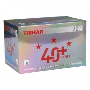 Tibhar Bälle 3 Sterne 40+ SYNTT weiß mit Naht 72 er Karton