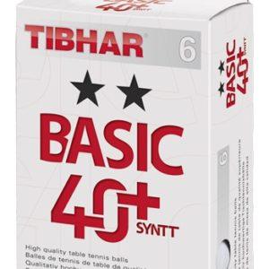 Tibhar Trainingsbälle 2 Sterne Basic 40+ SYNTT 6er Verpackung