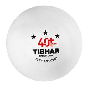 Tibhar 3 Sterne Bälle 40+ SYNTT NG (mit Naht) weiß
