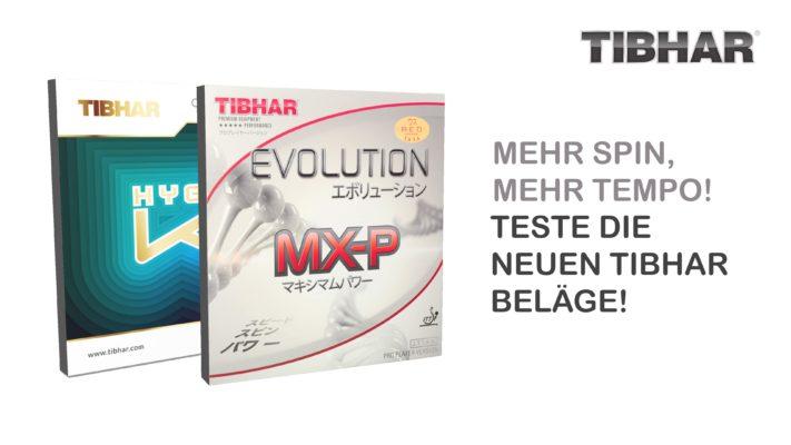 Die neuen Tibhar Beläge 2019