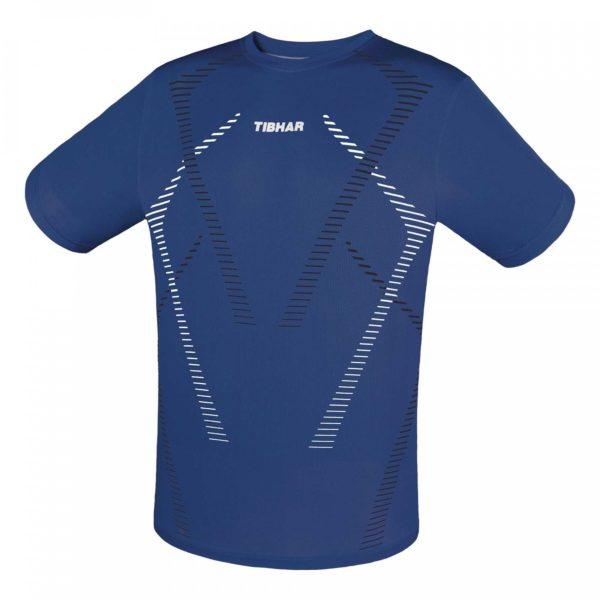 Tibhar T-Shirt Cross blau