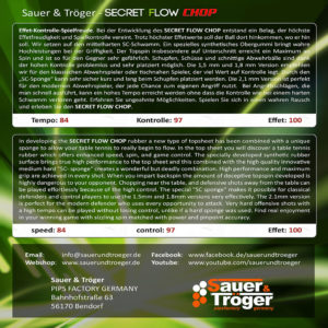 Sauer&Tröger Secret Flow Chop Cover Rückseite