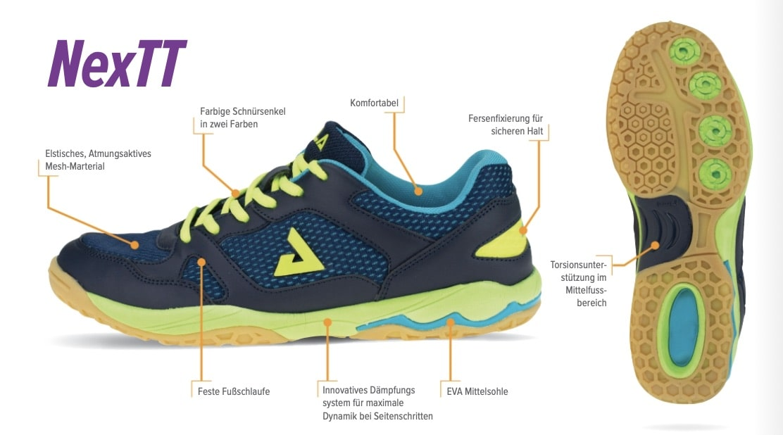 Joola Schuh Nextt - Die Details